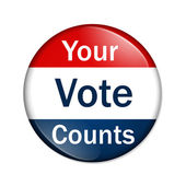 Your Vote Counts button — Stock Photo