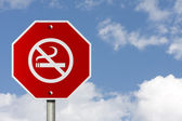 Fumer panneau d'arrêt — Photo