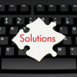 Providing computer and internet solutions — Stock Photo