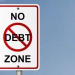 No Debt Zone — Stock Photo #7138058