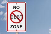 No Debt Zone — Stock Photo