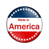 Made in the America button — Stock Photo