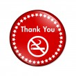 Thank you for not smoking button — Foto de Stock