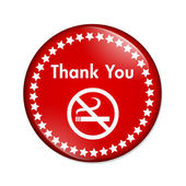 Thank you for not smoking button — Stock Photo