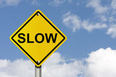 Go Slow — Stock Photo