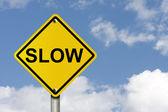 Go Slow — Stock Photo