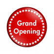 Grand Opening button - Stock Photo