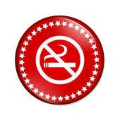 No smoking button — Stock Photo
