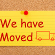 We have moved — Foto Stock