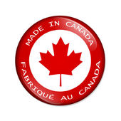 Made in Canada button — Stock Photo