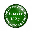 Earth Day button — Stock Photo