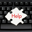 Providing computer and internet help — Stock Photo