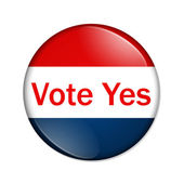 Vote Yes button — Stock Photo