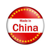 Made in China button — Stock Photo