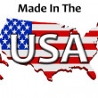 Made in the USA — 图库照片