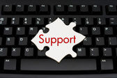 Providing computer and internet support — Stock Photo