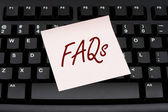 Computer FAQs — Stock Photo