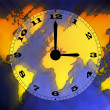 World map and time — Stock Photo