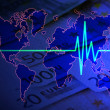 Euro pulse on world — Stock Photo #7412260