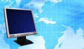 Controleren met globe — Stockfoto