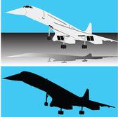 Concorde plane — Zdjęcie stockowe