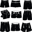 Stock Photo: Various womens shorts