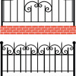Various wrought-iron fence — Stock Photo