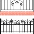 Stock Photo: Various wrought-iron fence