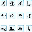 Winter Sports Icons — Stock Photo