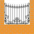 Wrought iron fence — Stock Photo #6949590