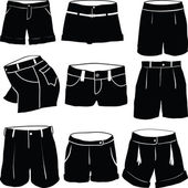 Various womens shorts — Stock fotografie