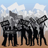Workers strike and protest — Stock Photo