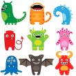 Monster set — Vector de stock