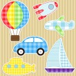 Stock Vector: Transport stickers