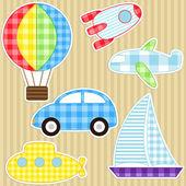 Transport stickers — Stock Vector