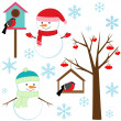 set winter elementen — Stockvector  #7629924