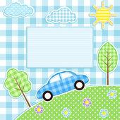 Fondo coche — Vector de stock