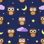 Gece baykuş — Stok Vektör