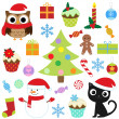 Stock Vector: Christmas set 2