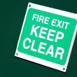 Stock Photo: Fire exit