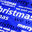 Blue Christmas background — Stock Photo