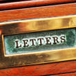 Letters box — Stock Photo