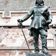 Statue of Oliver Cromwell in London, UK - 图库照片