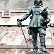 Statue of Oliver Cromwell in London, UK - Photo