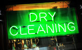 Dry cleaning — Stock Photo