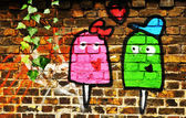 Love graffiti — Stock Photo
