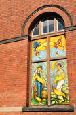 Urban graffiti window — Stockfoto