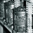 buddhis prayer wheels — Stock Photo