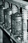 Buddhis prayer wheels — Stock Photo