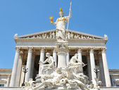 Austrian Parliament building in Vienna — Stock Photo